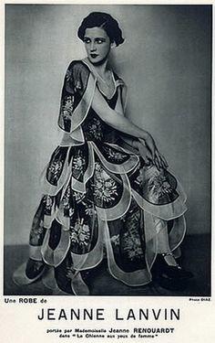 Jeanne Lanvin 1928 Evening Gown Model Jane Renouardt Luigi Diaz