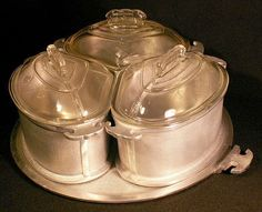 Guardian Ware Roaster Trio w/Glass Lids & Serving Tray
