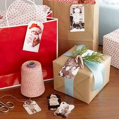 Print photos, old and new, onto white cardstock to add a personal flair to a gift: http://www.bhg.com/christmas/decorating/diy-christmas-decorations/?socsrc=bhgpin100514christmasdiyforgiftsphotogifttags&page=2