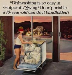Hotpoint's Swing-Door Portable: And if your children can do it blindfolded, then you have raised them well!