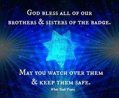 badg, policeman wife, amen, hero, thin blue