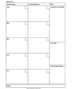Agenda de boda para imprimir