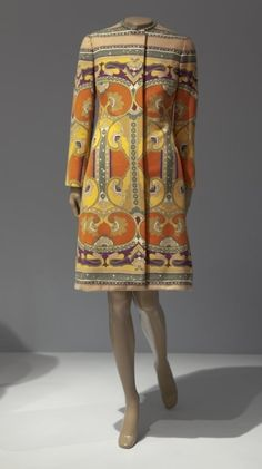 "Bill Blass (American, 1922-2002), ""Day coat,"" early 1970s; Indianapolis Museum of Art, Gift of Mrs. Joyce Penido, 1991.34"