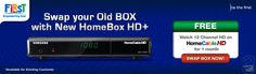 It's time for High Definition entertainment! Swap your Old Box with New HomeBox HD+ now!! Now we're having 21 HD Channels and still the widest range for High Definition entertainment in Indonesia
