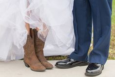 Country and military wedding picture!