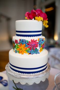 Blue and White Wedding Ideas - Great cake! | The NotWedding Philadelphia