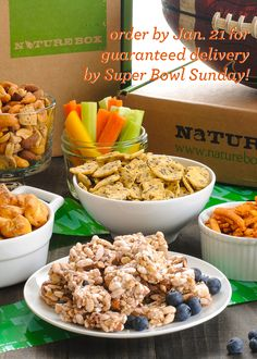Take the guess work out of Super Bowl Snacks with our one-time Super Bowl Box! https://naturebox.com/promo/superbowl-2014?utm_source=pinterest&utm_medium=pin&utm_content=sbpin1&utm_campaign=2014_superbowl