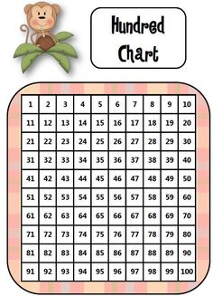FREEBIE! Students practice place value and hundred chart patterns (1 more, 1 less, 10 more, 10 less) as they color squares to reveal a surprise!    http://teachersnotebook.com/product/donnamaeb/monkey-business-hundred-chart-puzzle