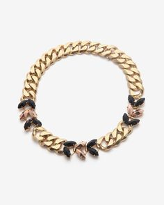 Iosselliani Navette Curb Chain Necklace
