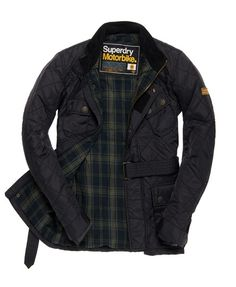 Superdry Time Trial Quilt Jacket #cloakanddapper