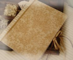 Great ways to dress up a plain ol' (cheap) composition notebook -- into a pretty journal!  Great craft idea for a women's event!  :) pretti journal, craft ideas, womens ministry crafts