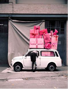 gift, happy birthdays, pink cars, christmas shopping, color, holiday cards, car photography, present wrapping, black friday