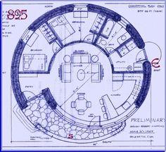 Earthbag floor plan