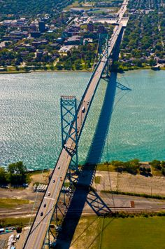 Ambassador Bridge Connects US to Canada- 5 miles long