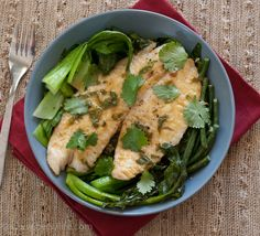 Celebrate Chinese New Year with Green Curry Fish and Stir-Fry Chinese Vegetables   Betsylife