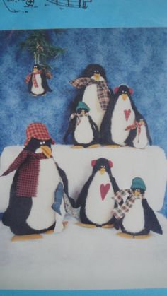 Lot 2 Primitive Penguin Family Doll Patterns 1999 Sharon Morris and Carol Quayle
