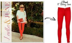 Maybe I've found a way to wear those red jeans...