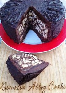 Chocolate Biscuit Cake:  No baking required. Prince William's favorite cake, served at his wedding as the Groom's Cake.