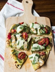 Chicken Pesto Naan Pizza - The Adventures of MJ and Hungryman