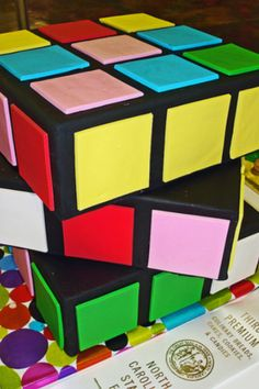 Rubix cube cake!!