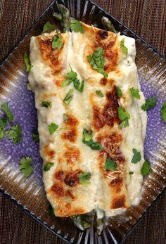 Asparagus and Chicken Enchiladas #recipe