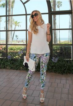 cute floral pants