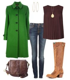 Preppy winter boot look featuring Corral Kats Natural Western boot