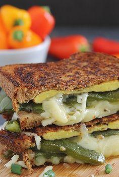 Chili relleno grilled cheese sandwich recipe chilie rellenos, food, grilled cheese sandwiches, sandwich recipes, chees sandwich, chili relleno