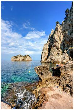 Coast of Capri Italy