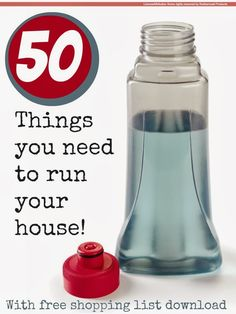50 things you need to run your house! @Maaike Boven make lists ... #housework #cleaning #thrift