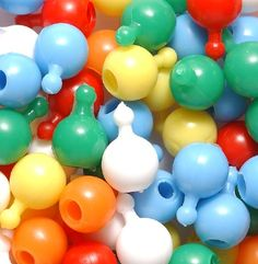 Pop Beads.  loved them. got them out of gumball machines.