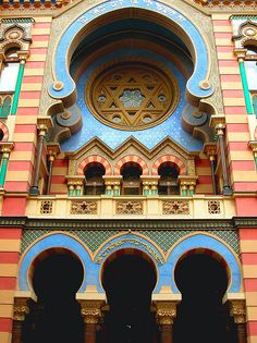 The Jerusalem Street Synagogue, Prague. This beautiful building is so tucked away it took me a couple years to notice it when I lived there.