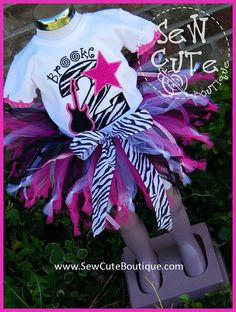 Rock Star Girl's Birthday Tutu and Tee Set by ThatsSewCute on Etsy, $50.00