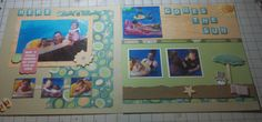 Scrapbooking page using Close to my Hearts Footloose paper packet.