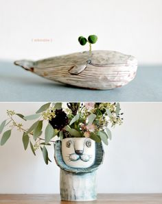 Adorable planters from Japanese company Kusafune - via DesignLoveFest
