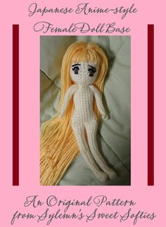Amigurumi crochet doll base body Japanese style anime yarn craft DIY pattern