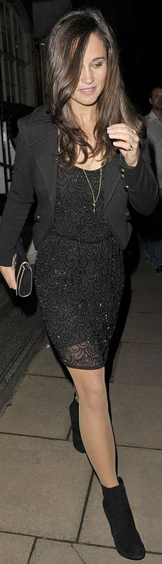 Pippa Middleton parties in London