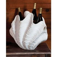Clam shell wine bottle chiller - yes!