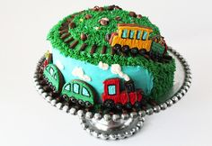 Worth Pinning: Spiral Train Cake @Gaye Barnes this is so cute!!!