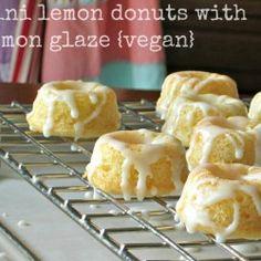 Vegan Lemon Donuts