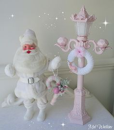 Vintage White Harold Gale Santa