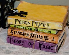 Piccolina Designs: Craft Room Weekend-- Spell Books