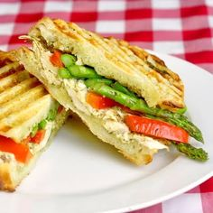 Grilled Chicken and Asparagus Panini ~ leftover chicken ideas ~