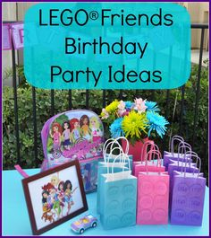 Girls Birthday LEGO Friends theme via MamaMaryShow.com