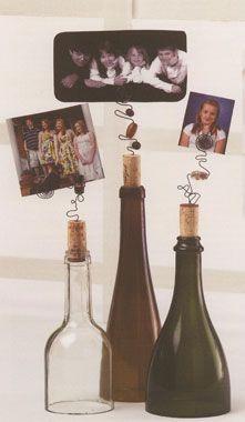 cork, centerpiec, diy bottl, bottl art, bottle art