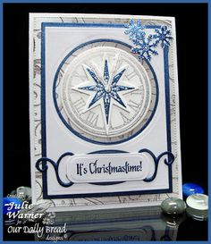 Stamps - Our Daily Bread Designs Snowflake Stars,Sparkling Snowflakes, Snowflake Mini Set,Gods Timing, ODBD Winter Paper Collection 2014, ODBD Custom Matting Circles Dies,ODBD Custom Splendorous Stars Dies,ODBD Custom Flourished Star Pattern Die