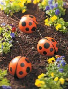 bowling ball ladybugs
