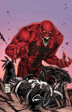 Anti Venom vs Toxin | COMICS: First Look At Eddie Brock As Toxin On VENOM #33 And #34 Covers