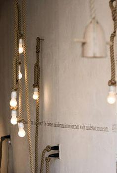 hand, interior, design industri, industri design, rope lamp, modern industrial, rope lighting, industrial design, decor idea