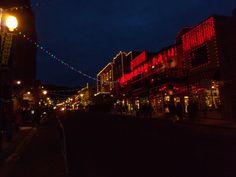 Main Street at night.  Park City, Utah  Sundance 2012